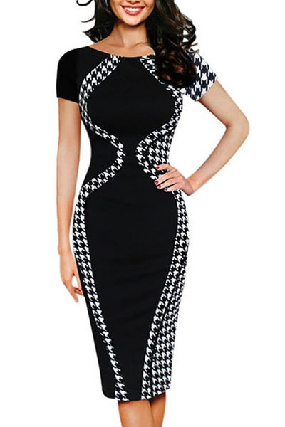 Sexy Bodycon Short Sleeve Pencil Dress