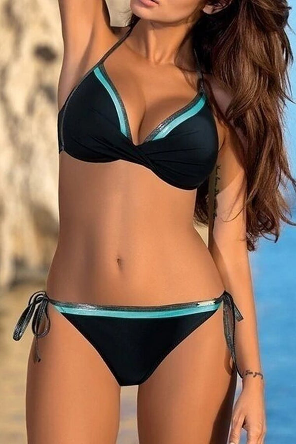 Hot Bathing Suit Triangle Side Knot Thong Swimwear