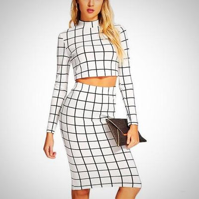 Myla Plaid Long Sleeve Set