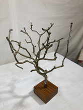 Load image into Gallery viewer, side table plant holder bronze iron accent table decor