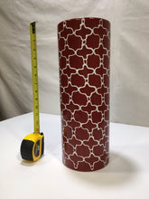 Load image into Gallery viewer, vase red and white ceramic round tall art deco art pottery decor
