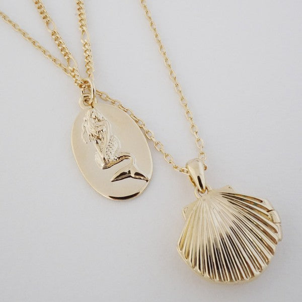Shell Locket Necklace