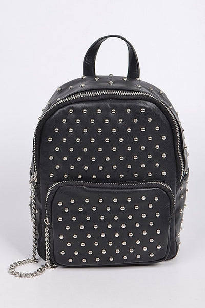 Edgy Babe Backpack in Silver