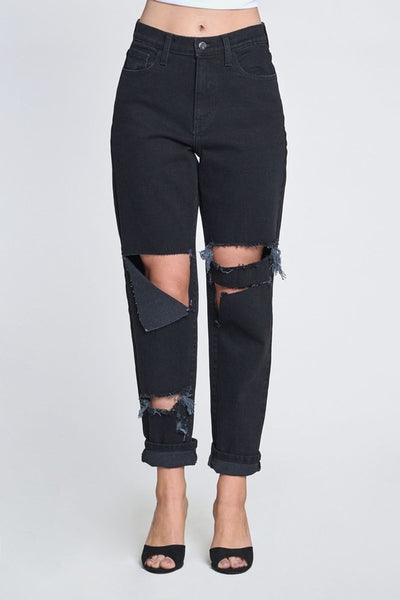 Never Better Distressed Jeans in Vintage Black