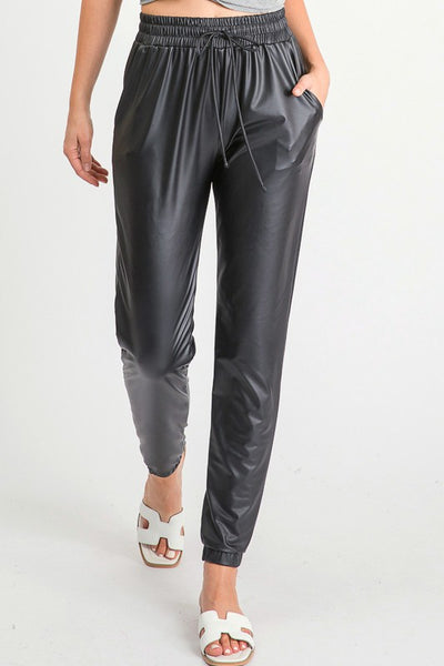 Brooklyn Vegan Leather Joggers