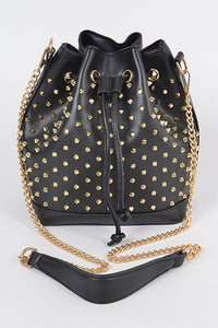 Downtown Weekend Spike Studded Bag