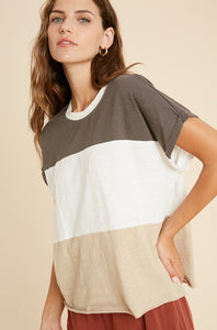 Easy Breezy Color Block Tee