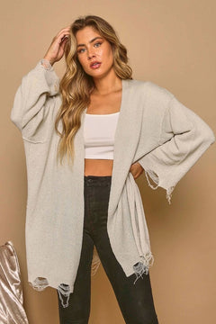 Over It Distressed Cardigan