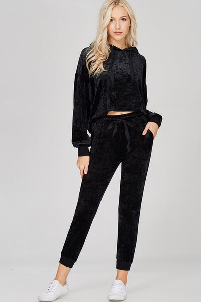 """Do What U Want"" Velvet Sweats Set"