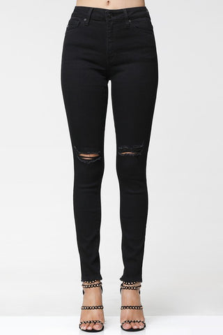 """Smooth"" Black Skinny Jeans"