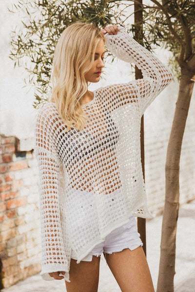 """Island in the Sun"" Mesh Knit Top"