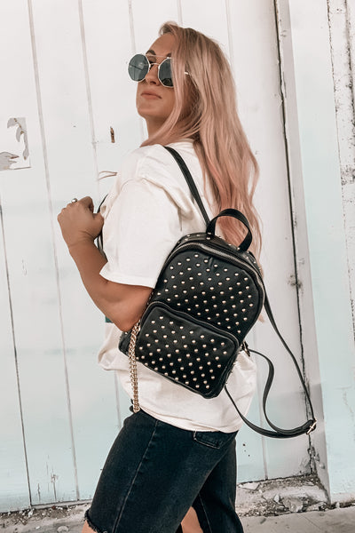 Edgy Babe Backpack in Gold
