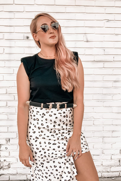 Model Behavior Leopard Skirt