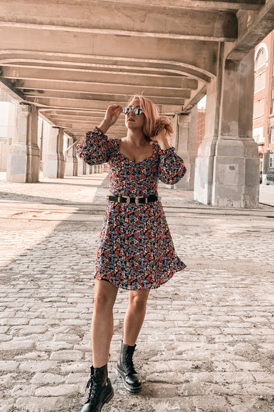 Walk My Way Long Sleeve Floral Dress