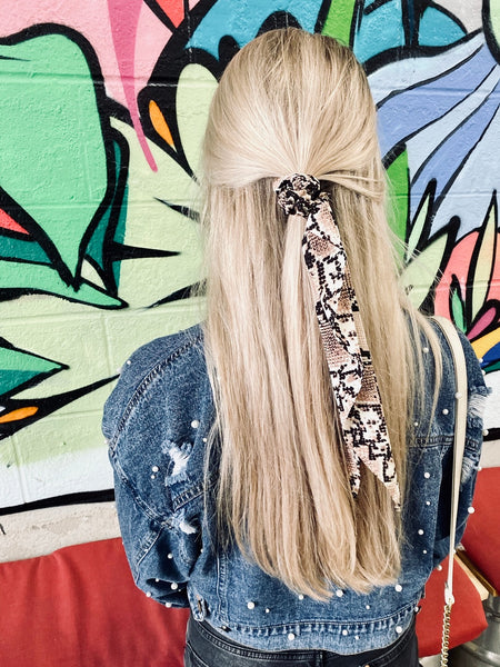 Snakeskin Scrunchie Scarves