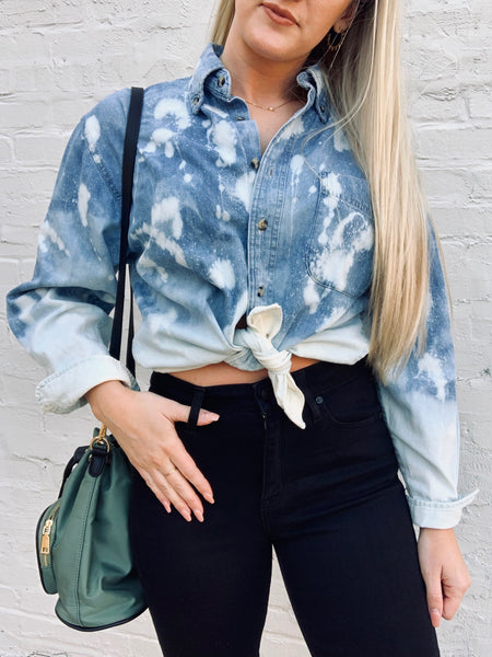Cloud Nine Acid Wash Denim Top
