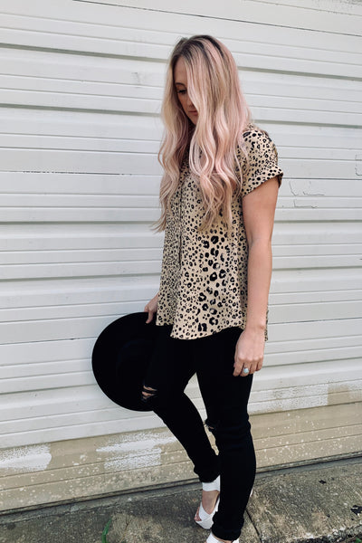 Royal Leopard Top