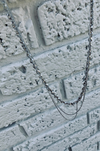 Shine Baby Chain Necklace in Silver