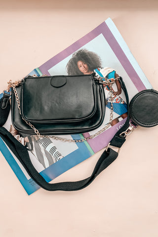 Du Jour Crossbody Bag in Black