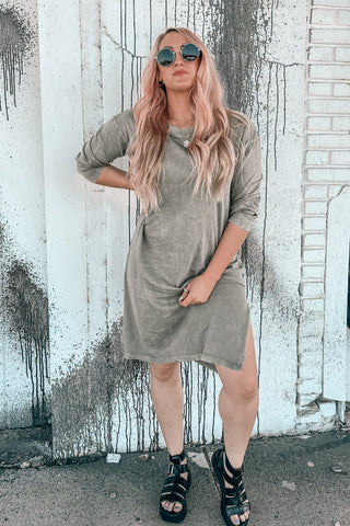 Meet Me Mineral Wash Midi Dress