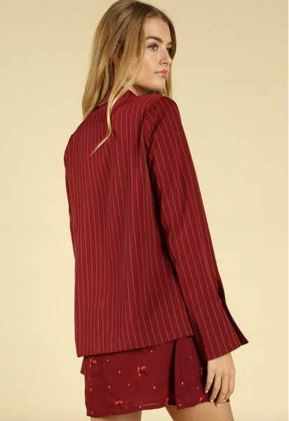 """Start Me Up"" Pinstripe Blazer"