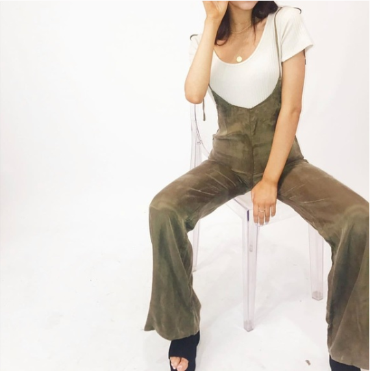 """I Feel Fine"" Olive Tie Jumpsuit"