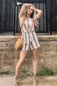 """Most Girls"" Striped Romper"