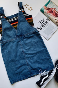 Calling Good Times Denim Overall Dress