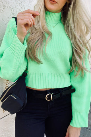 """Push It"" Cropped Sweater"