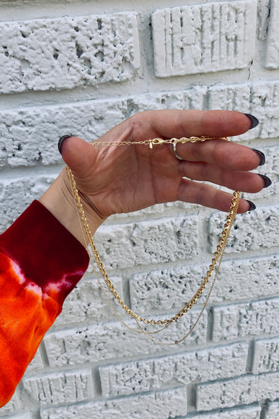 Shine Baby Chain Necklace in Gold