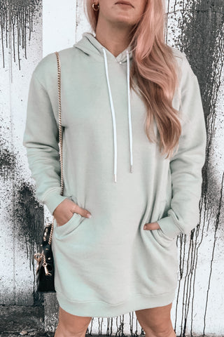 Mint To Be Hoodie Dress