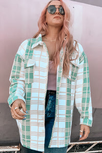 All Aligned Slouchy Check Shacket