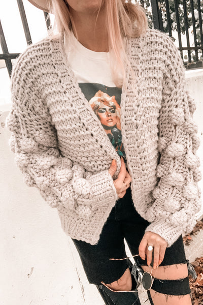 Dream Girl Bubble Sleeve Cardigan