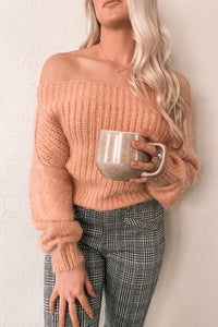 """Addicted to Love"" Off The Shoulder Sweater"