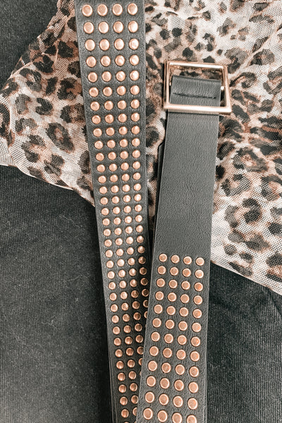 Feeling Edgy Vegan Leather Belt