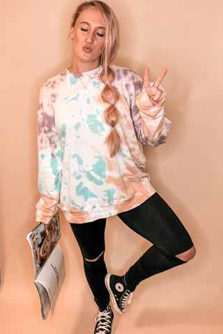 Sunset Sky Tie Dye Sweatshirt