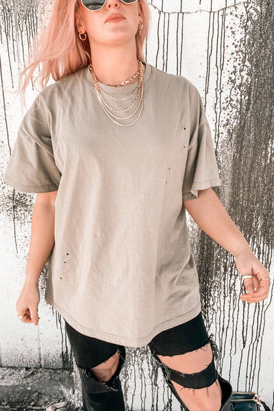 It's All Good Oversized Distressed Tee