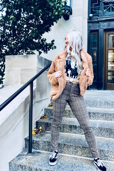 """Satisfaction"" Plaid Pants - denim & street"