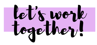 Let's Work Together - Contact Me - The Blank Canvas Company