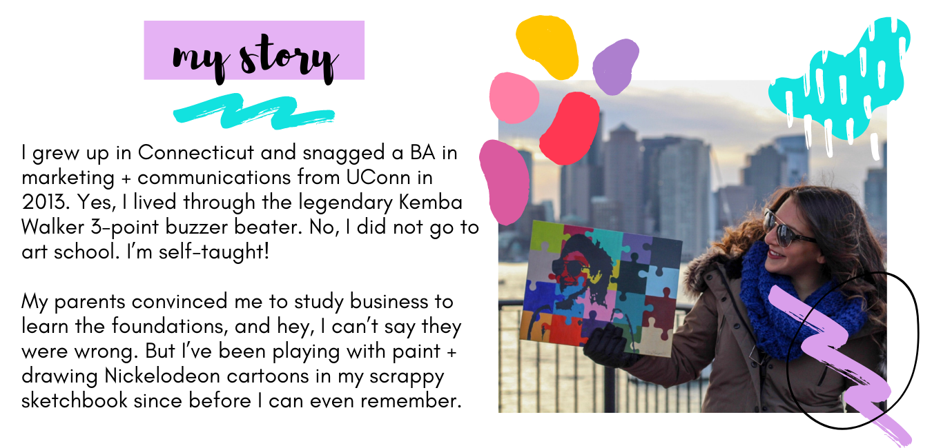 The Blank Canvas Company - About Me - My Story - Hi I'm Erica - Get To Know Me - Boston Artist2 (2)