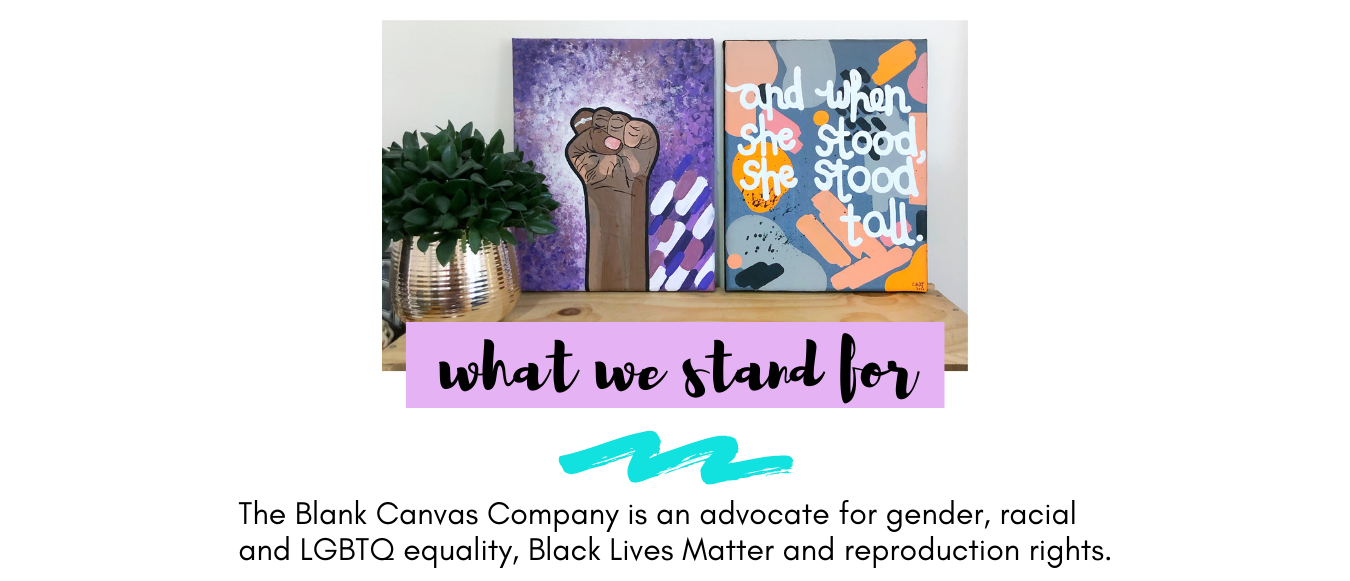 The Blank Canvas Company - What We Stand For - About Me- Meet The Maker Boston Artist