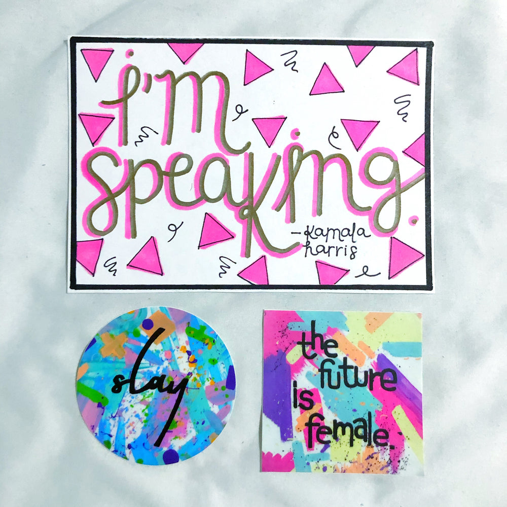 "Inauguration Day ""I'm Speaking"" Postcard + Sticker"