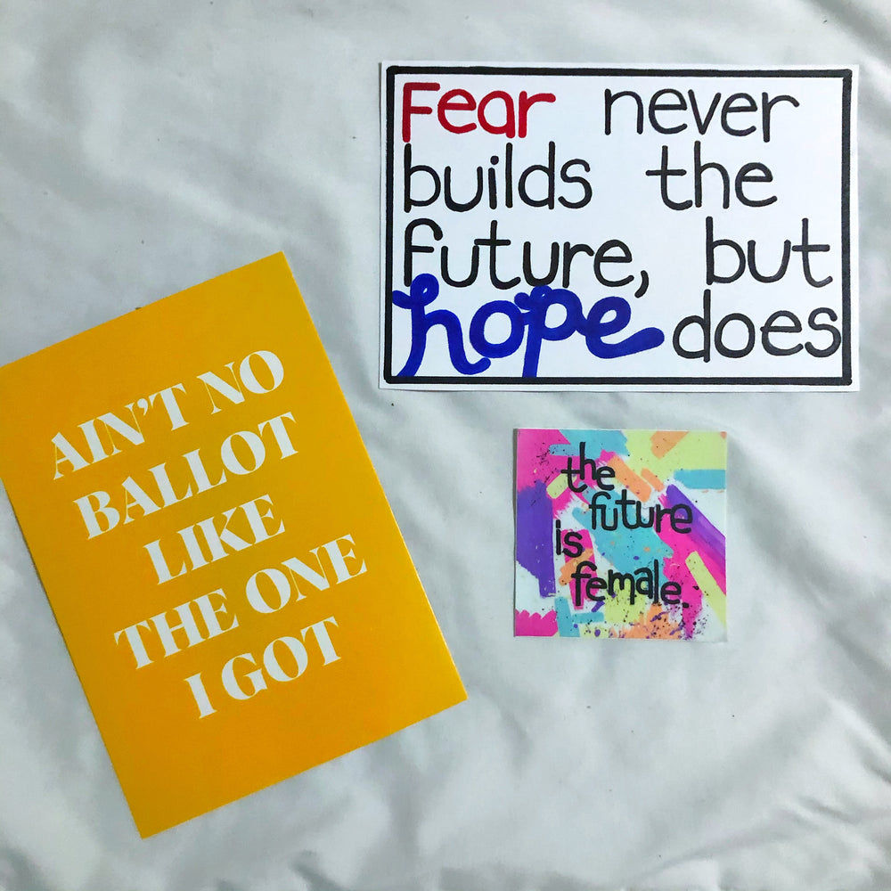 "Inauguration Day ""The Future is Hopeful"" Postcard + Sticker"