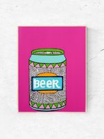 Bold Beer Can Print