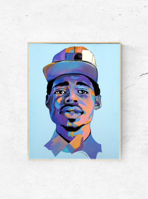 "My ""Chance The Rapper"" print is an abstract portrait of one of my favorite music artists and rappers of all time - Chance The Rapper. He is humble, talented and deserves his face on your wall. This print is available in 8""x10"" or 11""x14""."