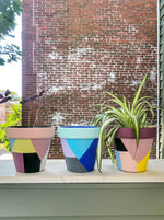 Blue & Gray Geometric Planter