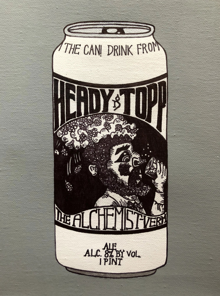 "My ""Alchemist Heady Topper"" art print is an ode to one of Vermont's most iconic breweries - The Alchemist (Stowe). Heady Topper is one of the most sought out DIPAs in the world - and one of my boyfriend's favorites. This print comes in 8""x10"" or 11""x14."""