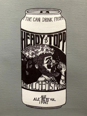 "Load image into Gallery viewer, My ""Alchemist Heady Topper"" art print is an ode to one of Vermont's most iconic breweries - The Alchemist (Stowe). Heady Topper is one of the most sought out DIPAs in the world - and one of my boyfriend's favorites. This print comes in 8""x10"" or 11""x14."""