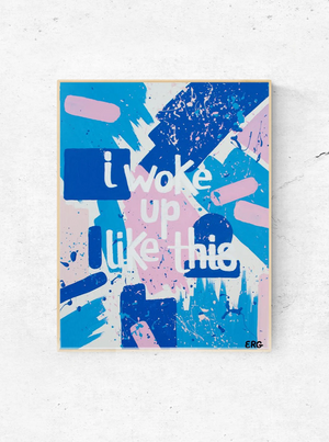 "The ""I Woke Up Like This"" art print is inspired by the one, the only, Beyoncé. It's a daily reminder that you have the same amount of hours in the day as Bey, don't forget to crush it. The print is available in 8""x10"" or 11""x14""."