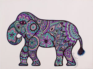 "My ""Pastel Elephant"" 9""x12"" original canvas is iconic and feminine. It is ideal for a nursery or girl's bedroom. I hope it brings good vibes, positivity, and a sense of calm to your living space."